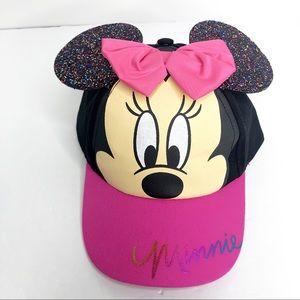 Disney Minnie Mouse cap Kids baseball Hat Glitter
